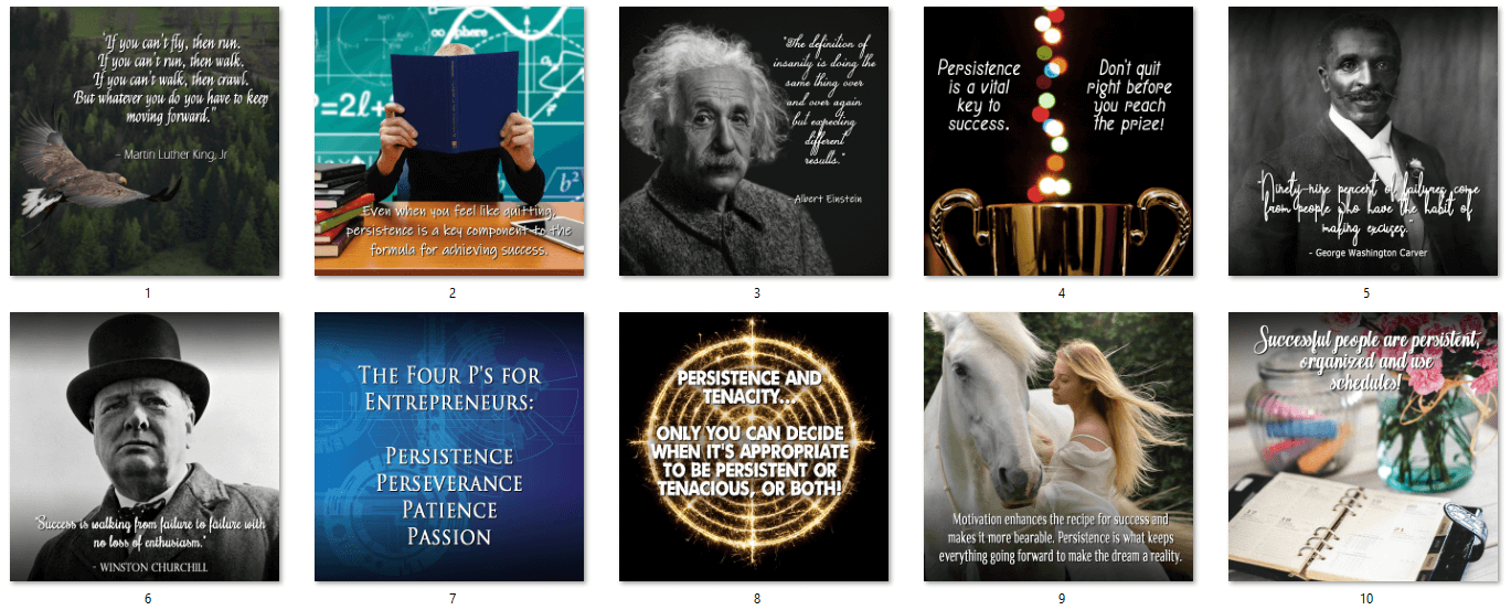 Persistence Social Posters