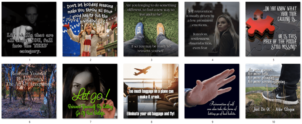 Reinvent Yourself Social Posters 1