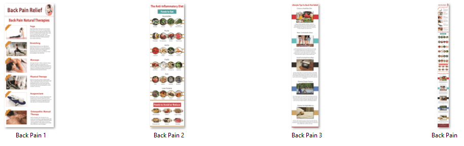 Back Pain PLR Infographics