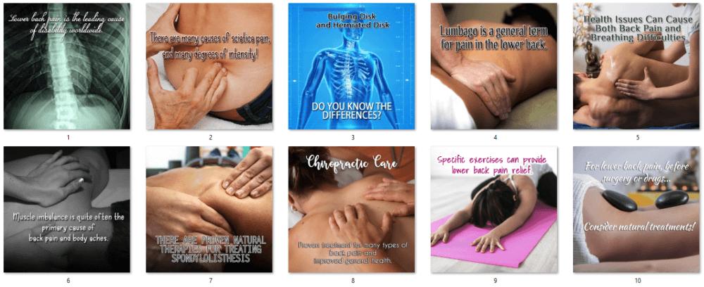 Back Pain PLR Social Posters