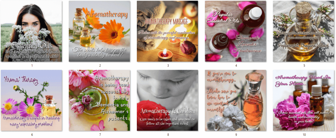 Aromatherapy and Essential Oils PLR Social Posters