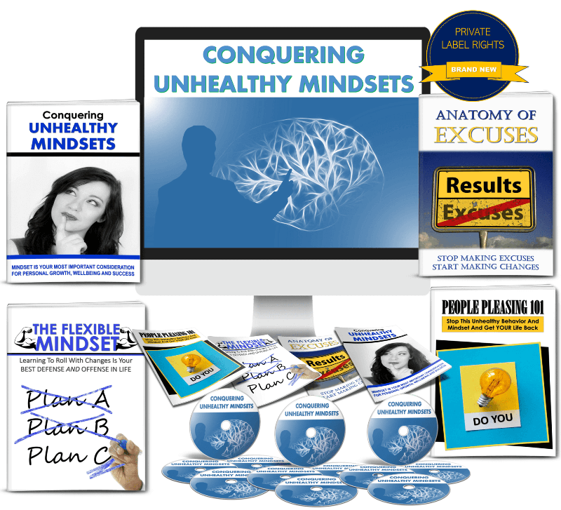 Conquering Unhealthy Mindsets PLR Package