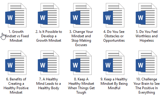 Mindset PLR Articles
