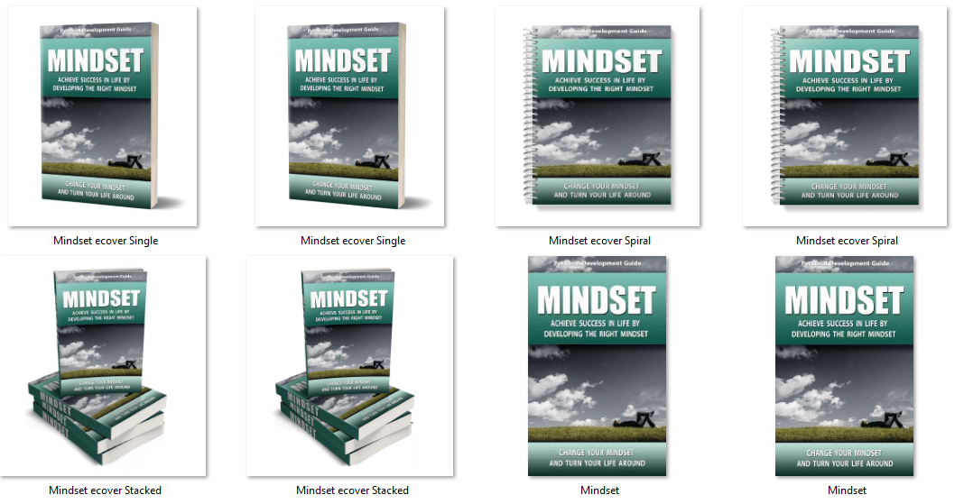 Mindset PLR eBook Covers