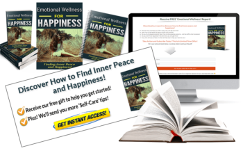 Happiness PLR Squeeze Page and CTA Graphic
