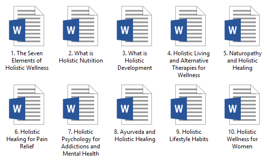 Holistic Wellness PLR Articles