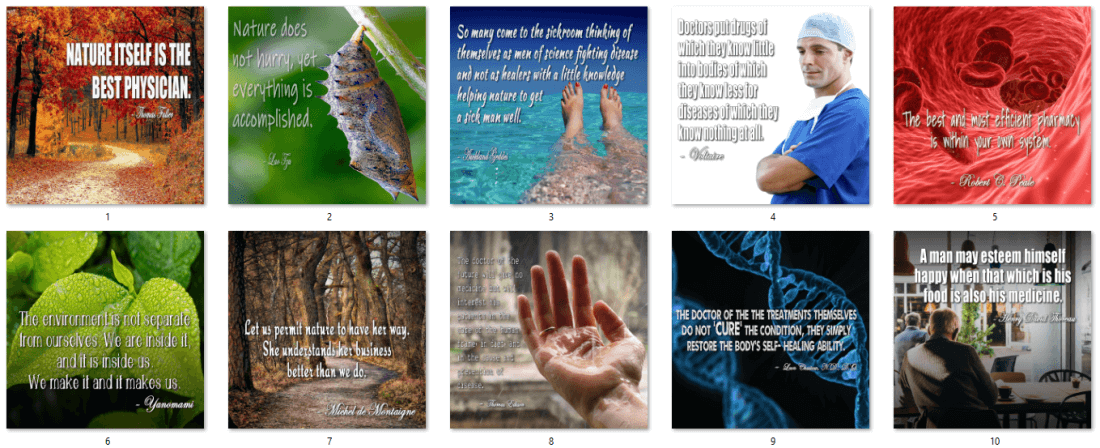 Natural Healing, Alternative Medicine PLR Quotes