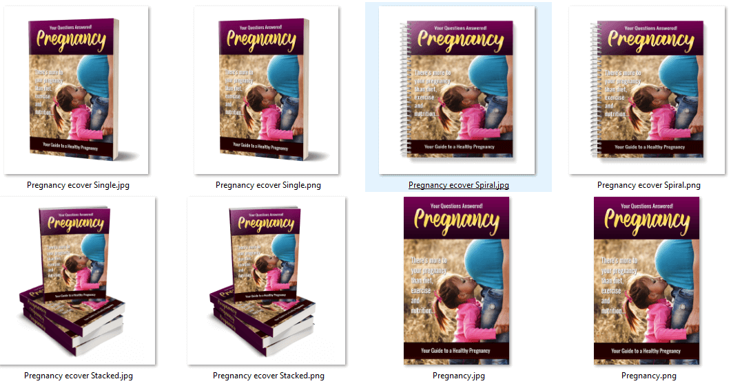Pregnancy PLR eBook Covers