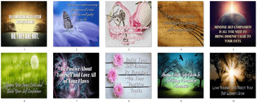 Self-Esteem PLR Social Posters 1