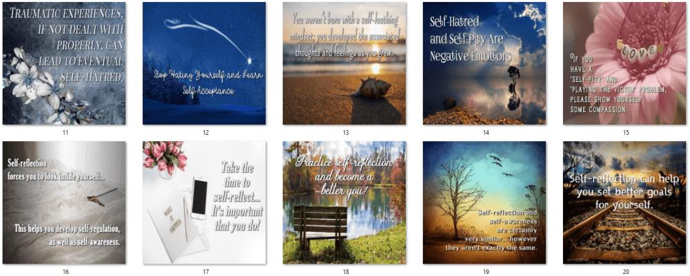 Self-Esteem PLR Social Posters 2
