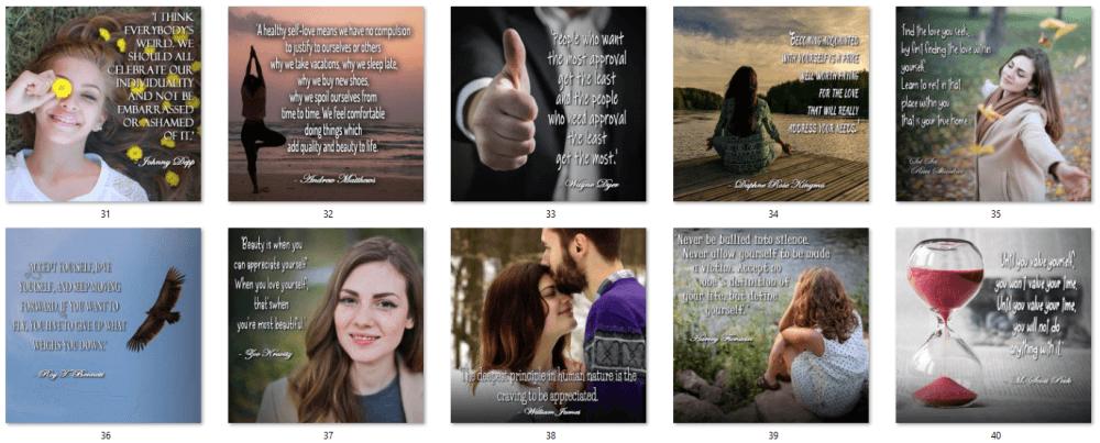 Self-Esteem Social Quote Posters 4