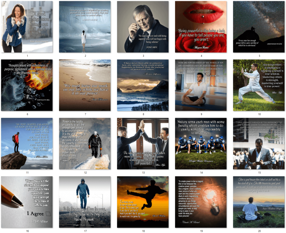 Inspirational PLR Quote Posters