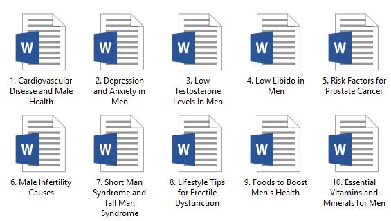 Men's Health PLR Articles