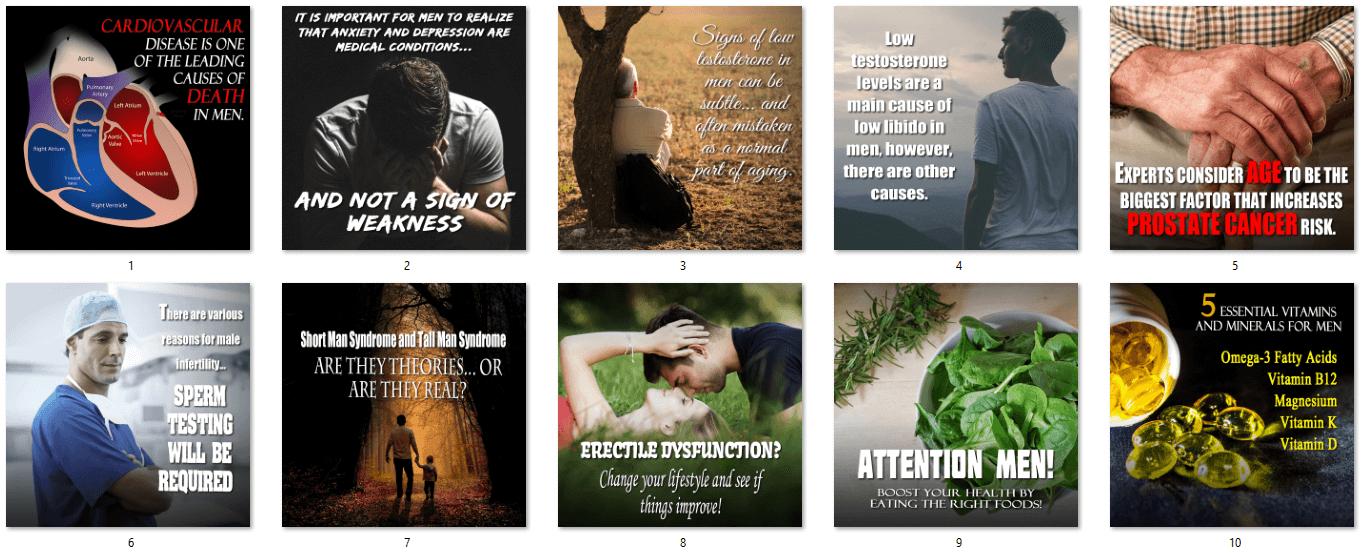 Men's Health Social Posters