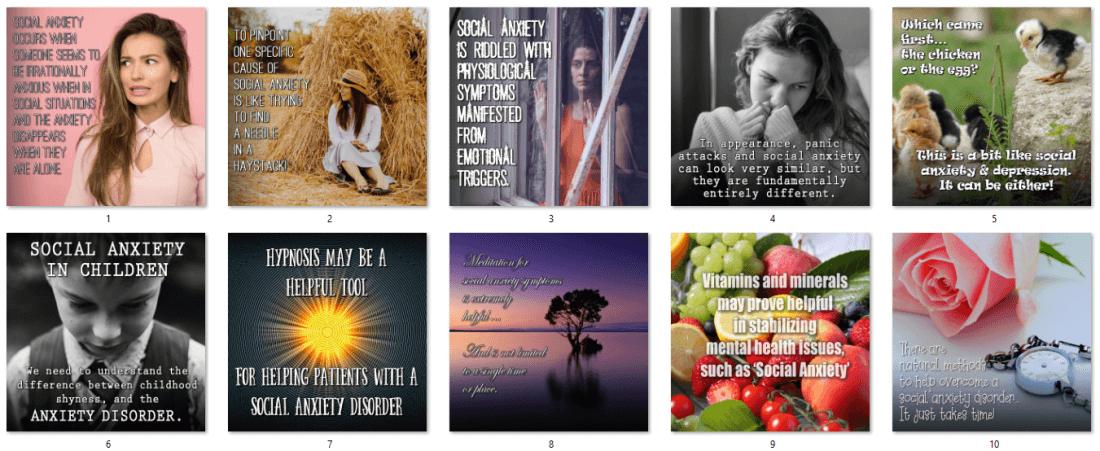 Social Anxiety PLR Social Posters