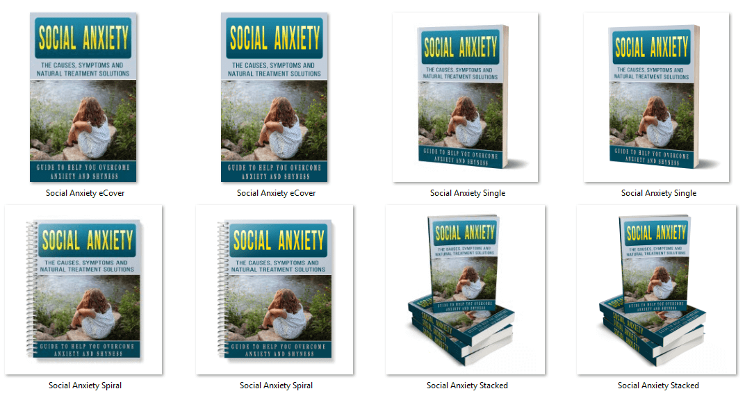Social Anxiety PLR eBook Covers