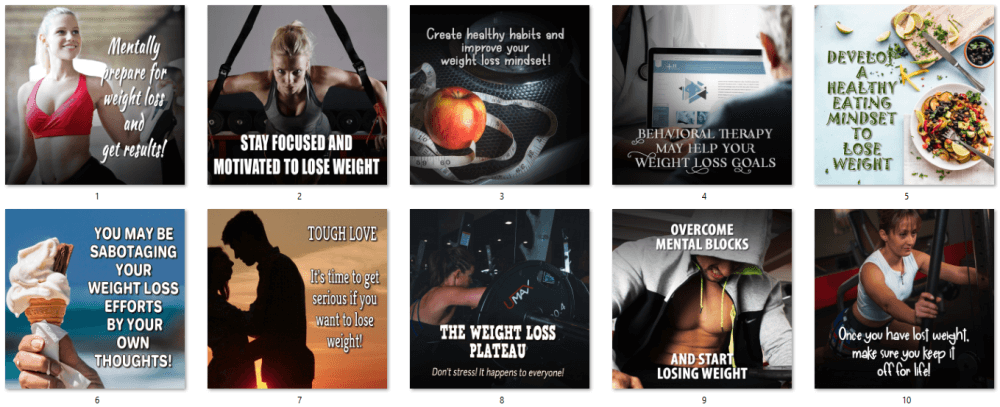 Weight Loss Mindset Social Posters 1