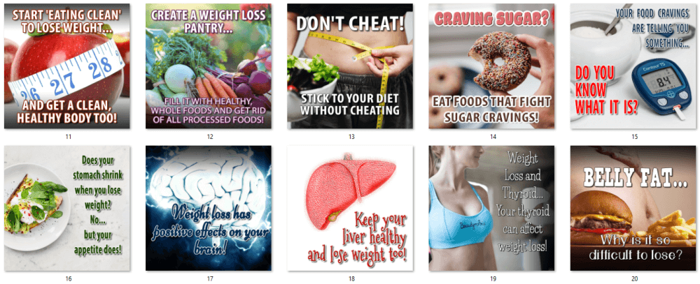 Weight Loss Mindset Social Posters 2