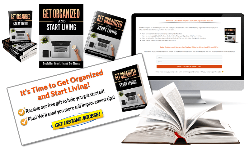 Organization PLR Squeeze Page and CTA Graphic