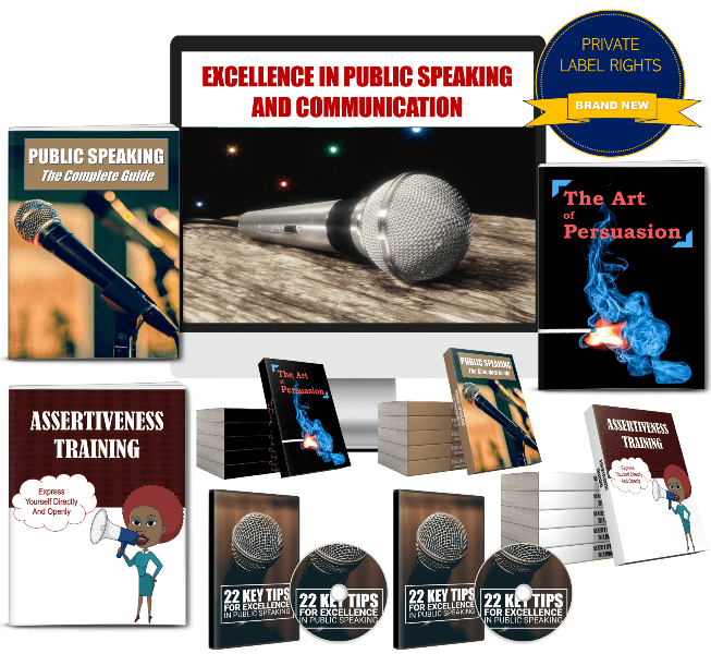 Public Speaking PLR and Communication PLR Package