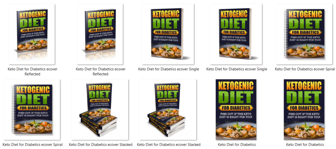 Ketogenic Diet PLR eBook Covers