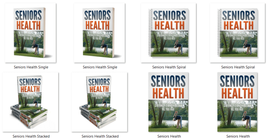 Seniors Health and Fitness PLR eBook Covers