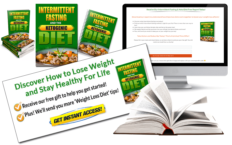 Squeeze Page and CTA Graphic Intermittent Fasting and Keto Diet PLR