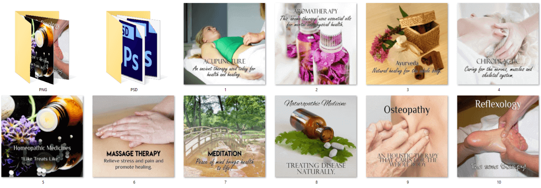 Alternative Therapies Social Posters