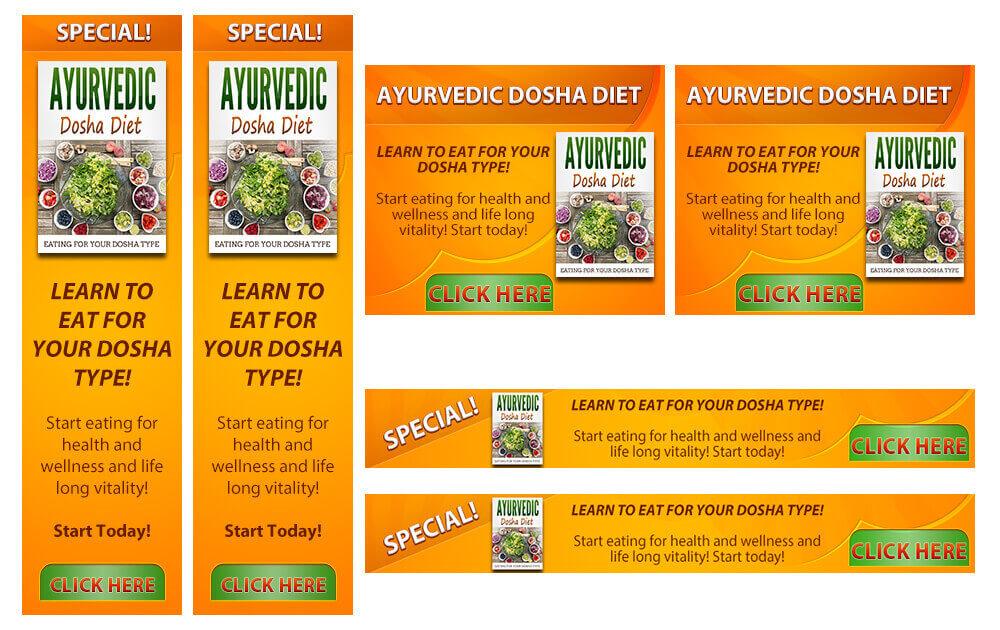 Ayurvedic Diet Banner Samples