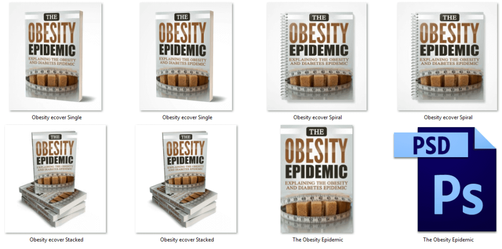 Diabetes Obesity Epidemic PLR eBook Cover Graphics