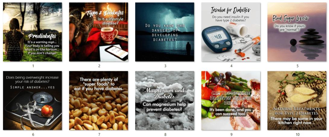 Diabetes PLR Social Posters