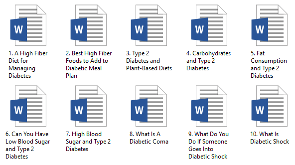 Diabetes PLR Articles and Blood Sugar PLR Articles