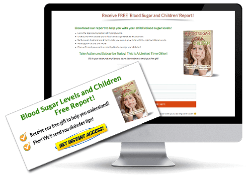 Blood-Sugar-Levels-and-Children-PLR Squeeze Page