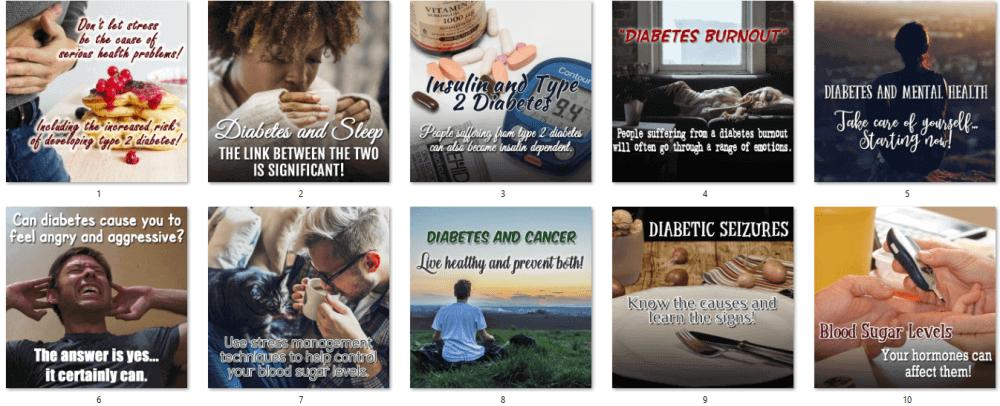 Diabetes Social Posters