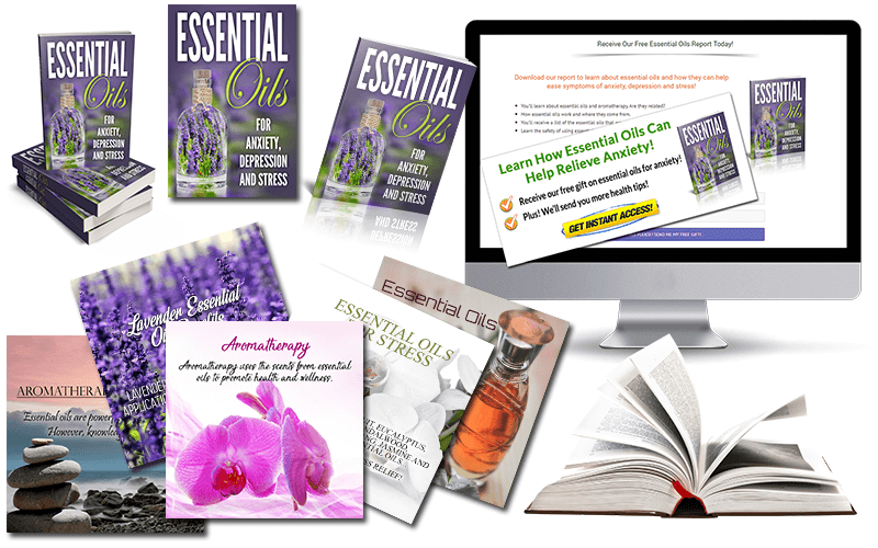Essential Oils for Anxiety, Depression and Stress PLR Package