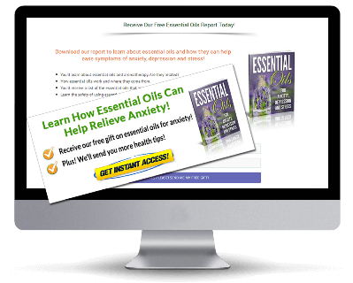 Essential Oils for Anxiety, Depression and Stress PLR Squeeze Page