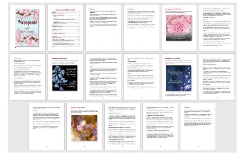 Menopause PLR Report 2