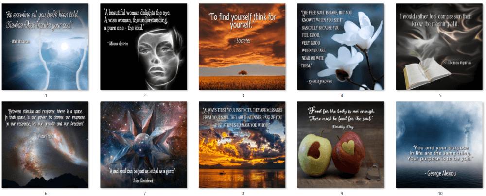 Nurture Your Spirit Social Posters 1