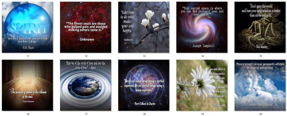 Nurture Your Spirit Social Posters 2