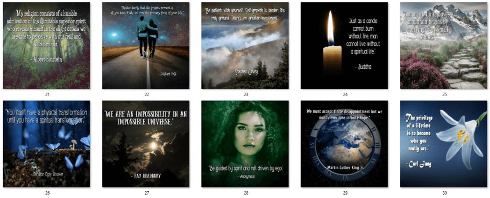 Nurture Your Spirit Social Posters 3