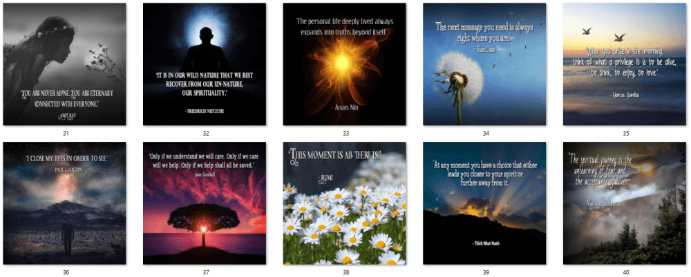 Nurture Your Spirit Social Posters 4