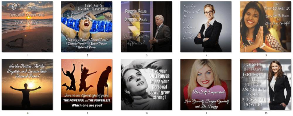 Personal Power PLR Social Posters
