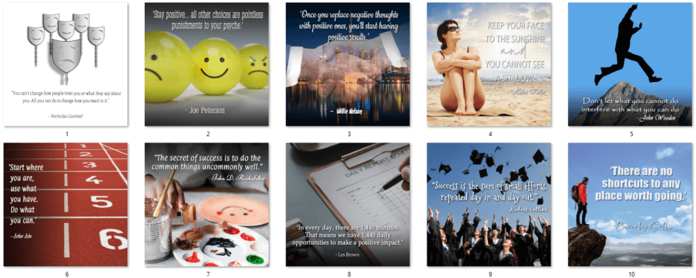 Positive Thinking Social Posters 1