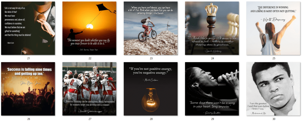 Positive Thinking Social Posters 3