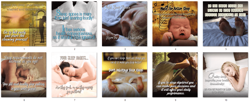 Sleep Health PLR Social Posters