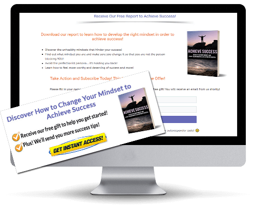 Achieve Success PLR Squeeze Page