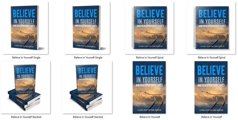 Believe in Yourself PLR eBook Cover Graphics