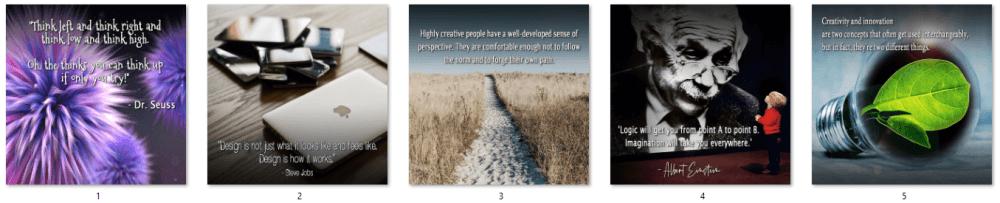 Creativity PLR Social Posters