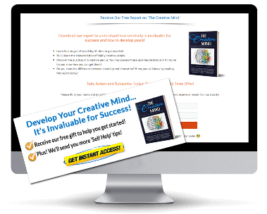 Creativity PLR Squeeze Page and CTA Graphic