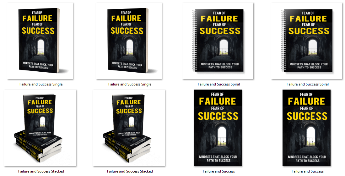 Fear of Failure, Fear of Success PLR eBook Cover Graphics